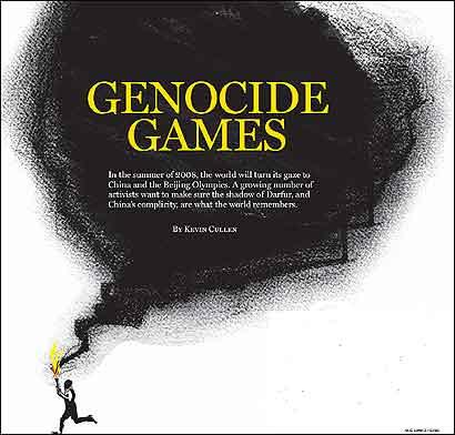 Genocide games (Beijing, Aug. 2008)